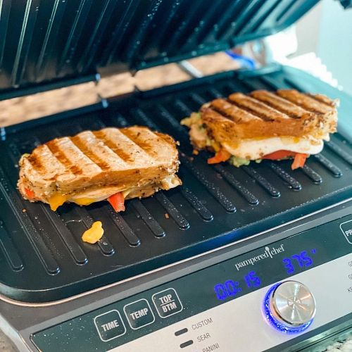 Sandwich on a Deluxe Electric Grill & Griddle