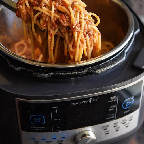 Spaghetti in a Pressure Cooker